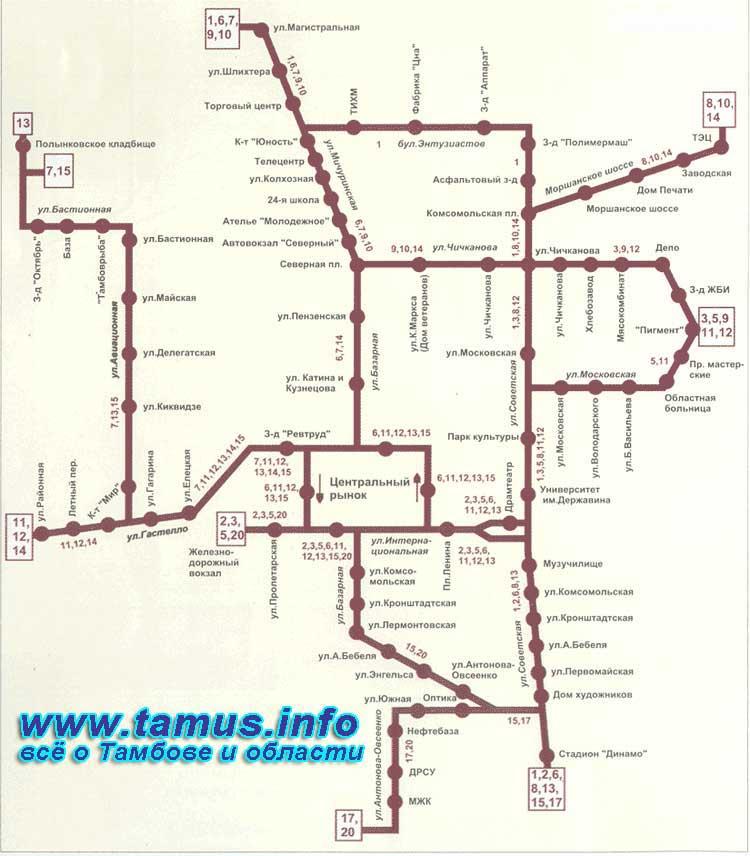 маршруты автобусов москва
